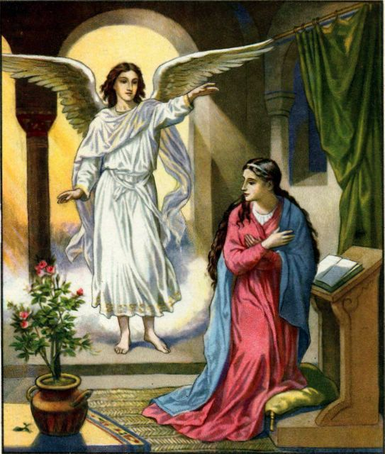 Image result for angel visiting mary