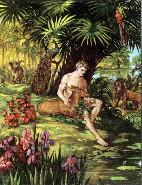 Adam in the Garden of Eden