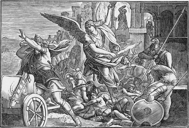 Angel destroying the Assyrian army