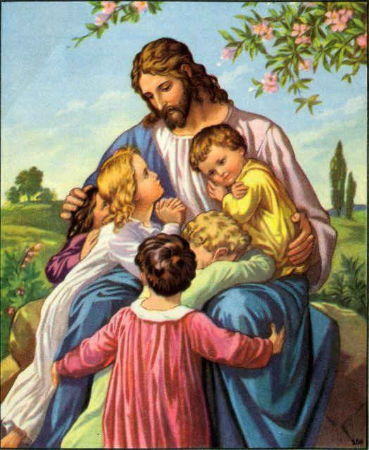 Jesus Inviting Children to Come to Him
