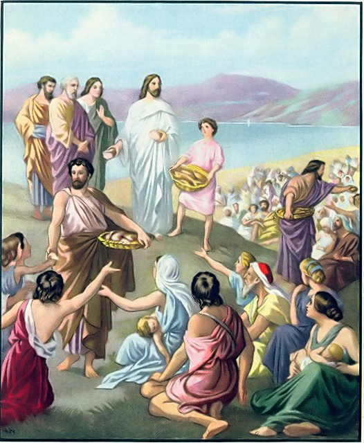 The Disciples Distributed The Loves And Fish John 6 11