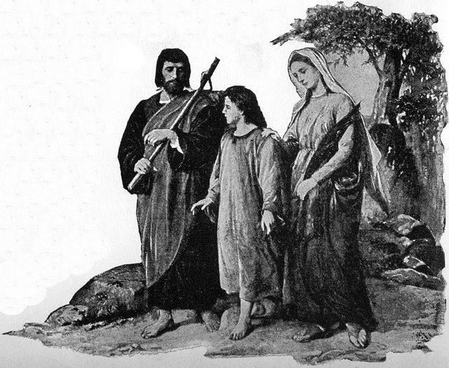 Joseph Mary And Jesus Returning To Nazareth