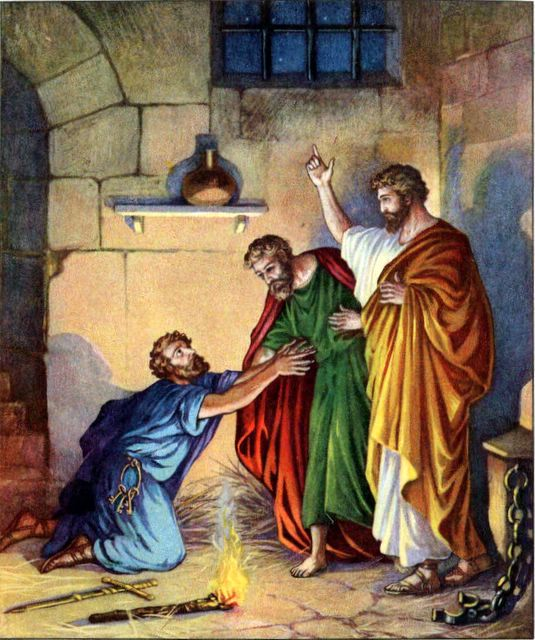 Paul and Silas with the Philippian Jailer